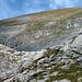 Blick zurück zum Gipfel. Abstieg: Statt Direttissima abwärts empfehle ich einen grösseren östlichen Schwenker (das Gelände ist wesentlich steiler, als es auf diesem Bild zum Ausdruck kommt).