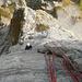 Die 10. Seillänge mit der Piazschuppe am Schluss - nochmals geniale Kletterei in rauem Fels
