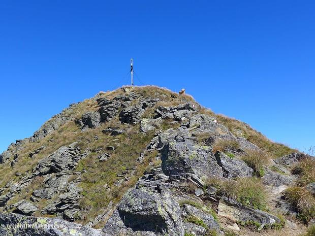Luca, wie immer, als Erster am Gipfel
