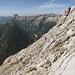 Abstiegshang, dahinter Grintovec