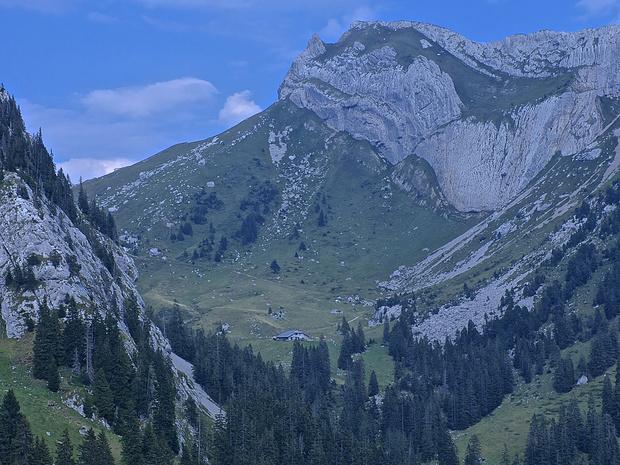 Alp Laub und Matthorn