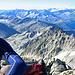 Pause auf dem Sporn - Blick Richtung Walliser-Alpen