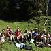 zufriedene, heitere Runde der Kilianer am Oberstockesee ...