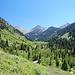 Blick in den südlichen Teil der Mineral Kings Area, der graue Berg rechts von der Bildmitte könnte der Vandever Mountain sein