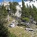 Letzter Anstieg zu den Kaltürmen des Zinken (1614 m - SW-Gipfel des Sorgschrofen)