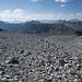 Blick auf die nächsten Gipfel der Route: Piz d'Immenz und die Piz San Jons