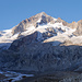 Am vorabend haben wir unser Ziel, das Aletschhorn, vor Augen.