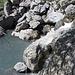 Start direkt neben den Gumpen des Wasserfalls