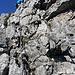 Und gleich oben am gemeinsamen Stand von Südwand und Südkante, dann kommen noch 100 Meter Gipfelschrofen.