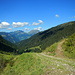 Blick talaus zu den Damülser Bergen