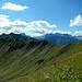 Im Süden das Lechquellengebirge mit der Braunarlspitze