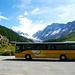 Der Bus am Parkplatz Fafleralp
