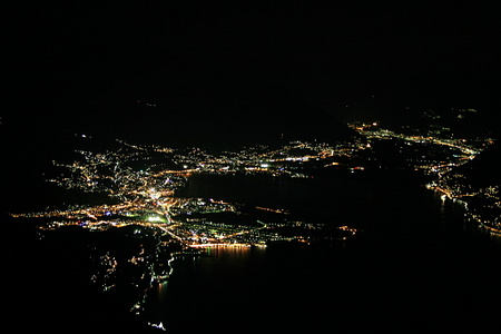 Lago Maggiore at night: Locarno and Ascona