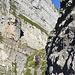 Ausstieg zum Stollensattel - der offizielle Teil des Schnüerliwegs ist damit beendet. In der linken Bildhälfte ist bereits die Fortsetzung sichtbar.