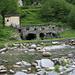 Bagni di Craveggia, the ruins of the hot spring are on the Italian side of the Rio dei Bagni
