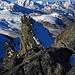 Eine weitere Seilschaft auf den letzten Metern zum Gipfel