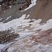 Wieder unten auf dem Gletscher nach einem steilen Schuttabstieg
