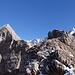 Rückblick auf den eindrücklichen Gipfelbereich