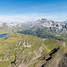 Gipfelausblick vom Rothorn zum Tannensee und Titlis
