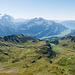 Sicht in Richtung Mägisalp, Brienzersee und Grosse Scheidegg