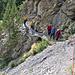 Der Einstieg in die Passage durch die Felsen
