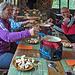 Am Abend im Restaurant du Rawyl ein herrliches Fondue (das wäre ein Schmaus für [u WoPo1961]!)