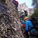 im ersten, leichteren Abschnitt des Klettersteiges