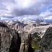 Ausblick vom Abstieg ins Val Setús