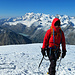Auf dem Gipfel Blick Richtung Dufourspitze,Strahlhorn, Rimpfischhorn, Alphubel