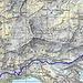 Routenverlauf Tag 1<br /><br />Quelle: Swiss Map online