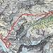 Routenverlauf Tag 2<br /><br />Quelle: Swiss Map online