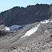Die traurigen Reste des Gletschers auf der Nordseite der Kögel