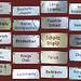 Sprachkurs in Walliserdeutsch. Zahlreiche Schildli zusammengefasst