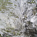Tiefblick vom Absatz am Austieg der Kamine