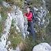 der alte Weg ab Lufthütte zur Mutteri-Alp, mit kurzer Kraxelstelle