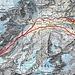 Routenverlauf ab Hinter Sand<br /><br />Quelle: Swiss Map online