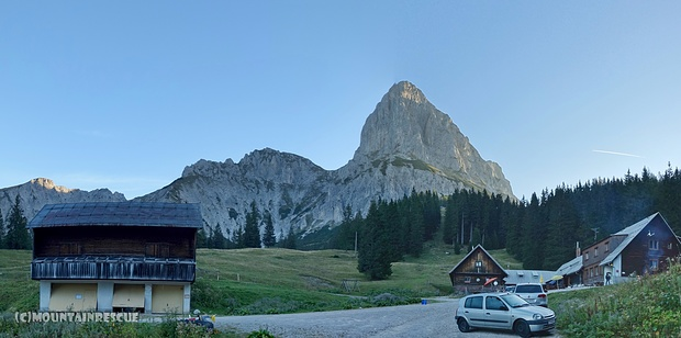 Früher Start bei der Oberst-Klinke-Hütte