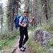 lungo la parte iniziale del sentiero per l'Oberetteshutte