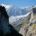 Ein erster Blick zur Gletscherwelt zwischen Pfingstegg und Bäregg