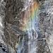 Wasserfall mit Regenbogen am Eiger Ostegg