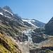 Ausblick von der Bänisegg zum Gletscherabbruch bei Rots Gufer