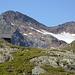 Magdeburger Hütte mit Gletscherrest unterhalb der Schneespitze, Stubenferner