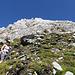Die weiße Mütze der Weißwand und die weiße Mütze der Bergsteigerin