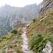Im unteren Bereich ist der Weg sogar bestens befestigt und fast schon halbschuhtauglich.