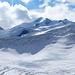 Die stark vergletscherte Nordflanke der Wildspitze