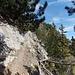 Ausgesetzter Steig, hier kurz durch die sonnige Südflanke