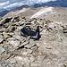 questo è il piccolo rifugio paravento della cima: fino a due -tre persone si sta comodi seduti su pietre piatte e senza vento (strano eh?)