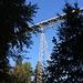 Die Fachwerkbrücke Haggen-Stein ist etwa 100 Meter hoch.