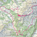 Route im Überblick: 1370m Auf-/Abstieg, 18,3km Distanz