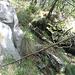 La rampetta erbosa che permette l'uscita dalla valletta